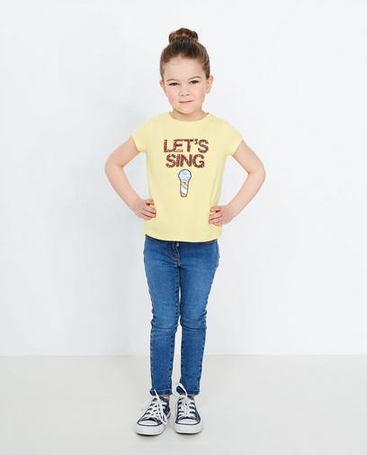 Hellgelbes T-Shirt